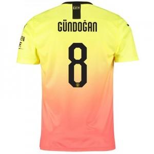 Manchester City Cup Third Shirt 2019-20 with Gündogan 8 printing