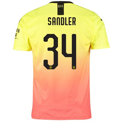 Manchester City Cup Third Shirt 2019-20 with Sandler 34 printing