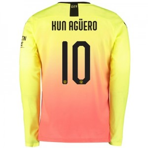 Manchester City Cup Third Shirt 2019-20 – Long Sleeve with Kun Agüero  10 printing