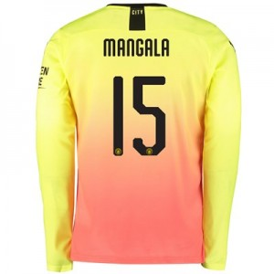 Manchester City Cup Third Shirt 2019-20 – Long Sleeve with Mangala 15 printing
