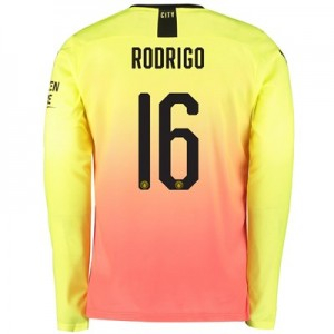 Manchester City Cup Third Shirt 2019-20 – Long Sleeve with Rodrigo 16 printing