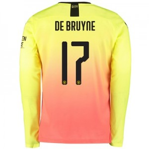 Manchester City Cup Third Shirt 2019-20 – Long Sleeve with De Bruyne 17 printing