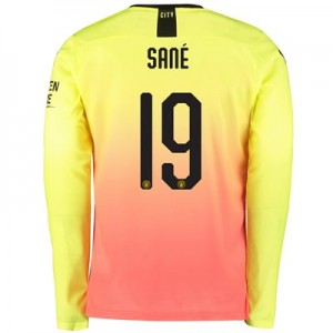 Manchester City Cup Third Shirt 2019-20 – Long Sleeve with Sané 19 printing