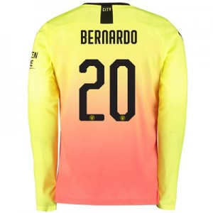 Manchester City Cup Third Shirt 2019-20 – Long Sleeve with Bernardo 20 printing