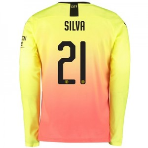 Manchester City Cup Third Shirt 2019-20 – Long Sleeve with Silva 21 printing