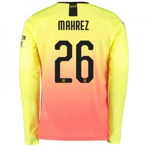 Manchester City Cup Third Shirt 2019-20 – Long Sleeve with Mahrez 26 printing