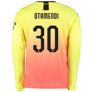 Manchester City Cup Third Shirt 2019-20 – Long Sleeve with Otamendi 30 printing