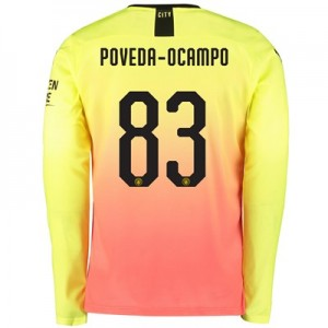 Manchester City Cup Third Shirt 2019-20 – Long Sleeve with Poveda-Ocampo 83 printing