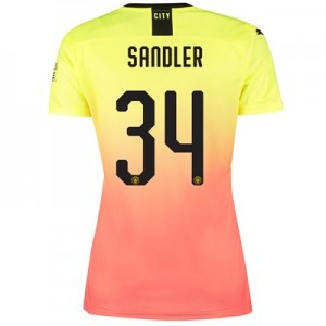 Manchester City Cup Third Shirt 2019-20 – Womens with Sandler 34 printing