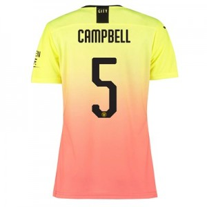 Manchester City Authentic Cup Third Shirt 2019-20 - Womens with Campbell 5 printing