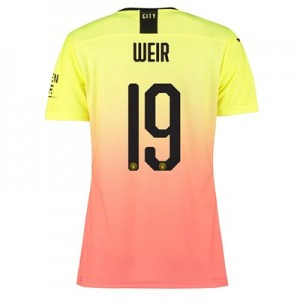 Manchester City Authentic Cup Third Shirt 2019-20 – Womens with Weir 19 printing