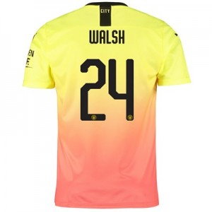 Manchester City Cup Third Shirt 2019-20 with Walsh 24 printing