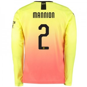 Manchester City Cup Third Shirt 2019-20 – Long Sleeve with Mannion 2 printing