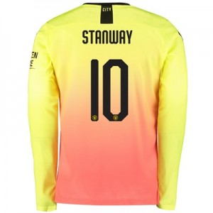 Manchester City Cup Third Shirt 2019-20 – Long Sleeve with Stanway 10 printing