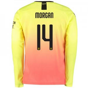 Manchester City Cup Third Shirt 2019-20 – Long Sleeve with Morgan 14 printing