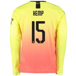 Manchester City Cup Third Shirt 2019-20 – Long Sleeve with Hemp 15 printing