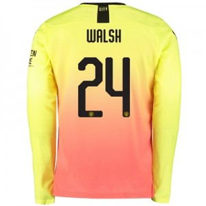 Manchester City Cup Third Shirt 2019-20 – Long Sleeve with Walsh 24 printing
