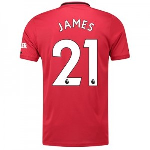 Manchester United Home Shirt 2019 – 20 with James 21 printing