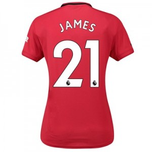 Manchester United Home Shirt 2019 – 20 – Womens with James 21 printing