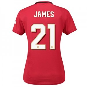 Manchester United Home Cup Shirt 2019 – 20 – Womens with James 21 printing