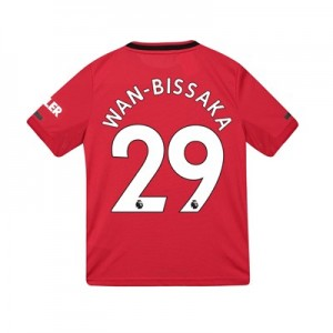 Manchester United Home Shirt 2019 – 20 – Kids with Wan-Bissaka 29 printing