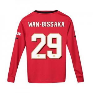Manchester United Cup Home Shirt 2019 - 20 - Kids - Long Sleeve with Wan-Bissaka 29 printing