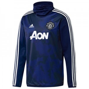 Manchester United Pre Match Warm Top – Blue