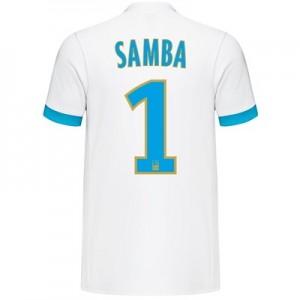Olympique de Marseille Home Shirt 2017-18 with Samba 1 printing