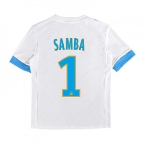 Olympique de Marseille Home Shirt 2017-18 – Kids with Samba 1 printing