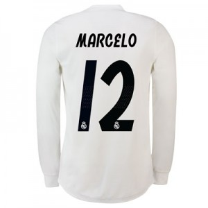Real Madrid Home Adi Zero Shirt 2018-19 – Long Sleeve with Marcelo 12 printing