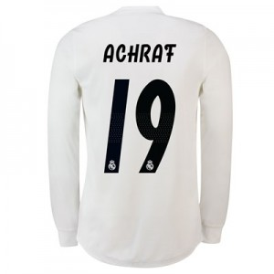Real Madrid Home Adi Zero Shirt 2018-19 – Long Sleeve with Achraf 19 printing