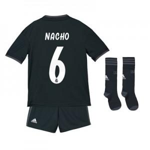 Real Madrid Away Kids Kit 2018-19 with Nacho 6 printing