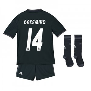 Real Madrid Away Kids Kit 2018-19 with Casemiro 14 printing