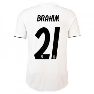 Real Madrid Home Authentic Shirt 2018-19 with Brahim 21 printing