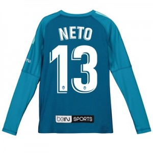 Valencia CF Goalkeeper Shirt 2018-19 – Kids with Neto 13 printing
