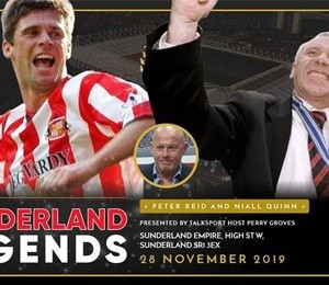 Sunderland Legends - In conversation with Niall Quinn & Peter Reid at Sunderland Empire