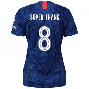 Chelsea Home Cup Stadium Shirt 2019-20 – Womens with Super Frank 8 printing