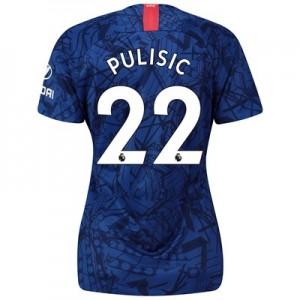 Chelsea Home Stadium Shirt 2019-20 - Womens with Pulisic 22 printing