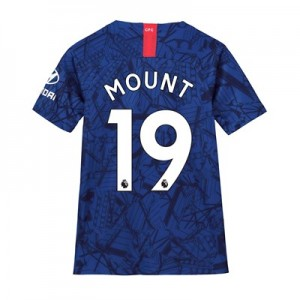 Chelsea Home Stadium Shirt 2019-20 – Kids with Mount 19 printing
