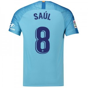 Atlético de Madrid Away Stadium Shirt 2018-19 with Saúl 8 printing