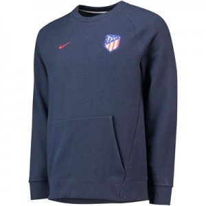 Atlético de Madrid Venue Crew Sweatshirt - Dark Blue