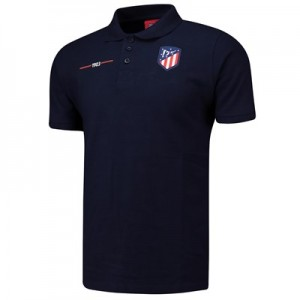 Atlético de Madrid Crest Polo Shirt - Navy - Mens