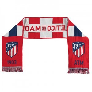 Atlético de Madrid Knitted Scarf - Red/White