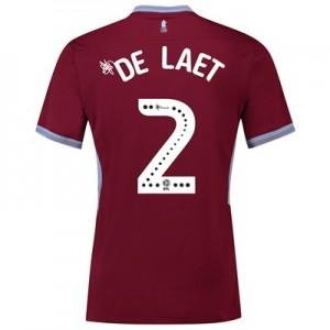 Aston Villa Home Shirt 2018-19 with De Laet 2 printing