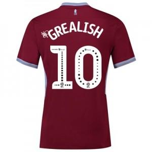 Aston Villa Home Shirt 2018-19 with Grealish 10 printing