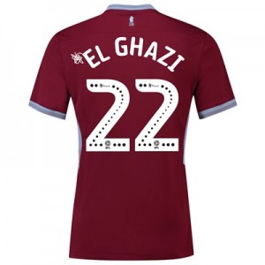 Aston Villa Home Shirt 2018-19 with El Ghazi 22 printing