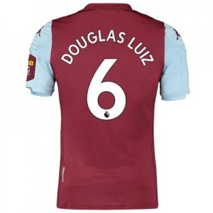 Aston Villa Home Elite Fit Shirt 2019-20 with Douglas Luiz 6 printing