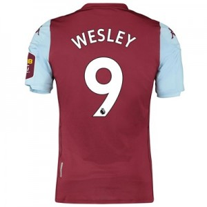 Aston Villa Home Elite Fit Shirt 2019-20 with Wesley 9 printing