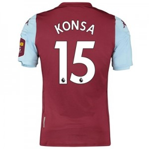 Aston Villa Home Elite Fit Shirt 2019-20 with Konsa 15 printing