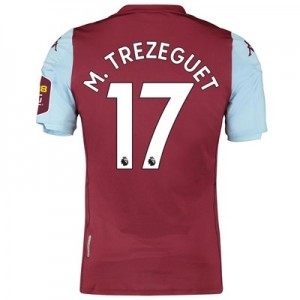 Aston Villa Home Elite Fit Shirt 2019-20 with M. Trezeguet 17 printing